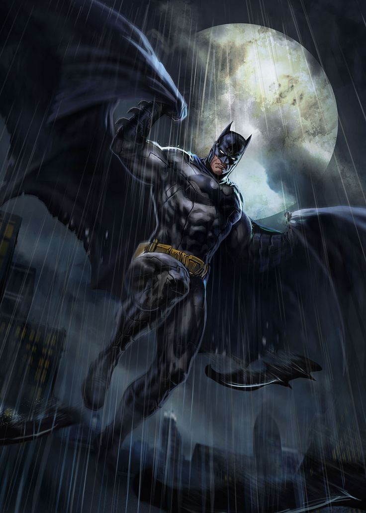DC Comic Book Artwork • Batman by Dleoblack. Follow us for more awesome comic art, or check out our online store www.7ate9comics.com