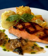 Salmon with Honey and Five Spice