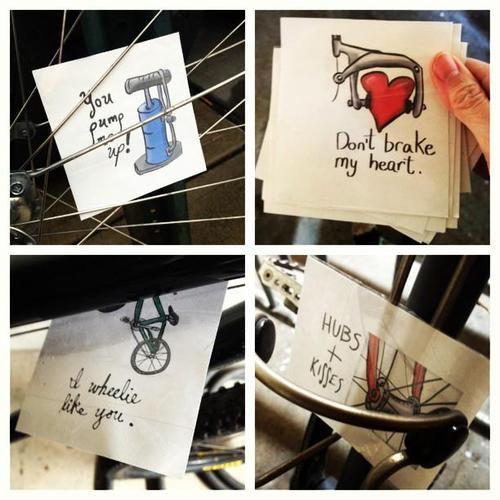 Valentines Day spoke cards!