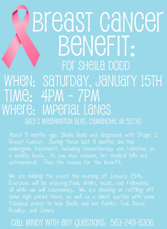 breast cancer benefit flyer template