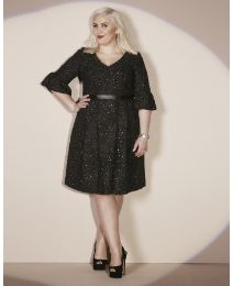 Claire Richards Tweed Prom Dress #SimplyBe