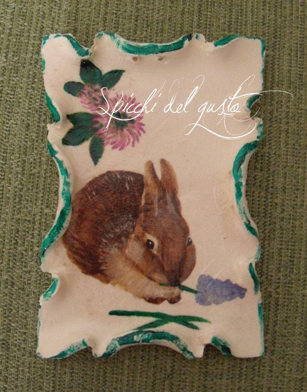 Spicchi del gusto: Targhetta coniglio e tanti auguri di una serena pasqua