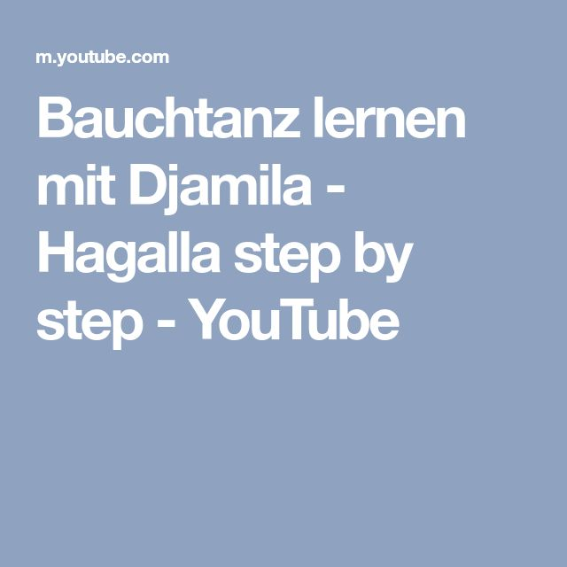 Bauchtanz lernen mit Djamila - Hagalla step by step - YouTube