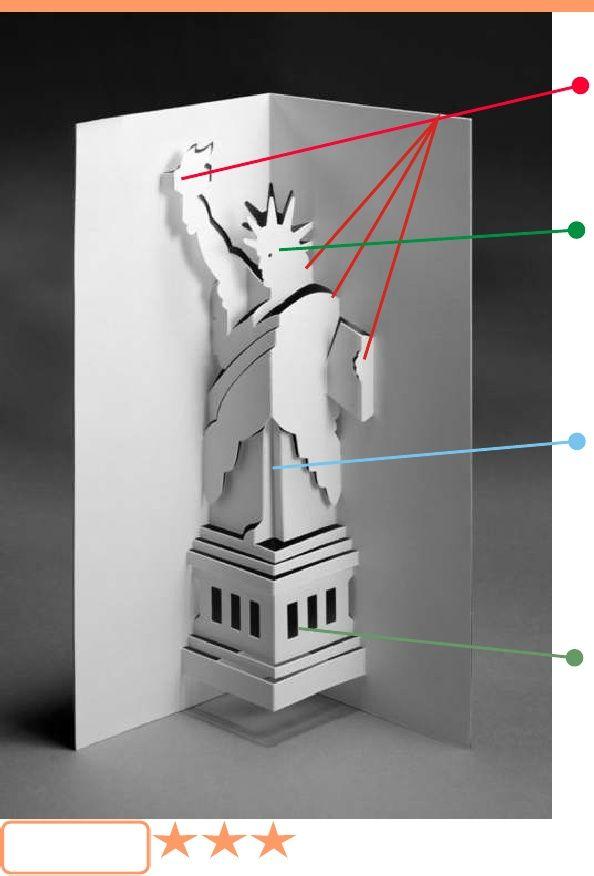Advanced Patterns Origamic Architecture Vol 1 Arquitectura Con Papel Kirigami Plantillas Plantillas De Tarjetas En 3d
