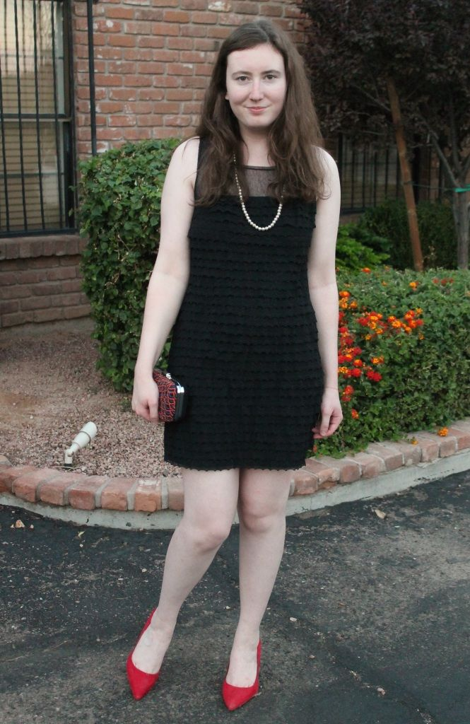 Black lace dress with red heels - Best dress image