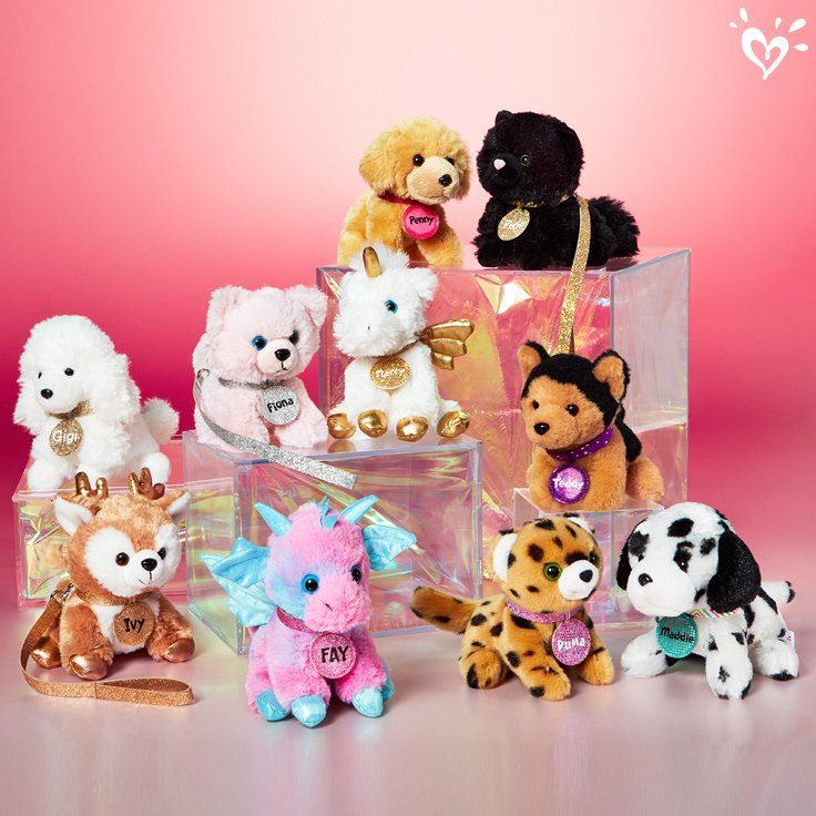 So Many Plush Pals For Her To Choose Pet Toys Pet Shop Plush