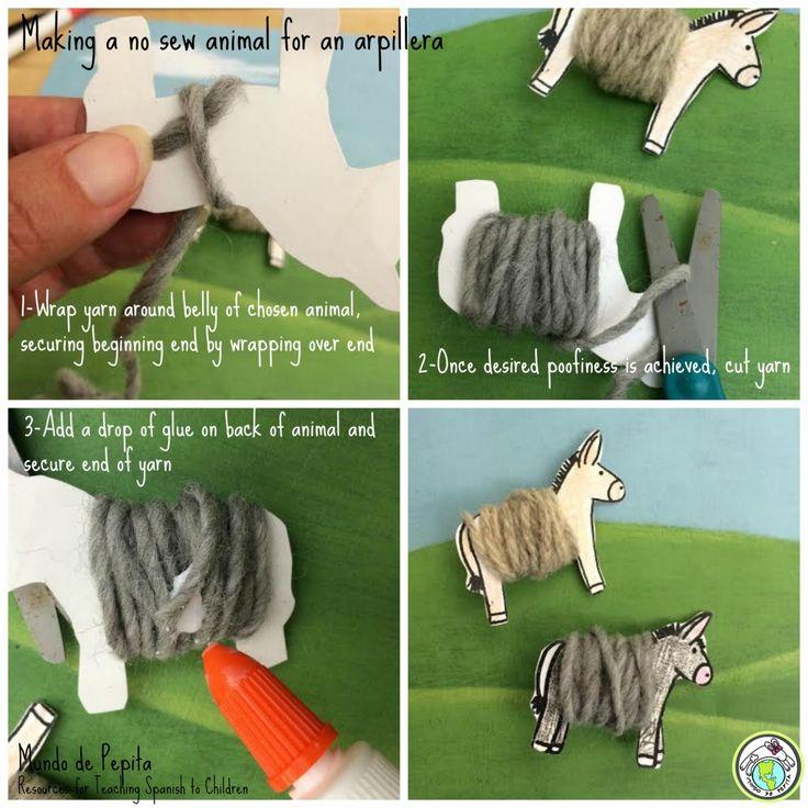 Making a no sew Peruvian arpillera with elementary students! animal arpillera…