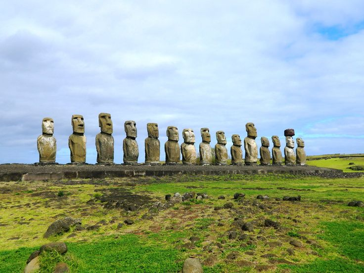 12 THINGS YOU MUST DO ON EASTER ISLAND Lie on the grass and stare at Ahu Tongariki