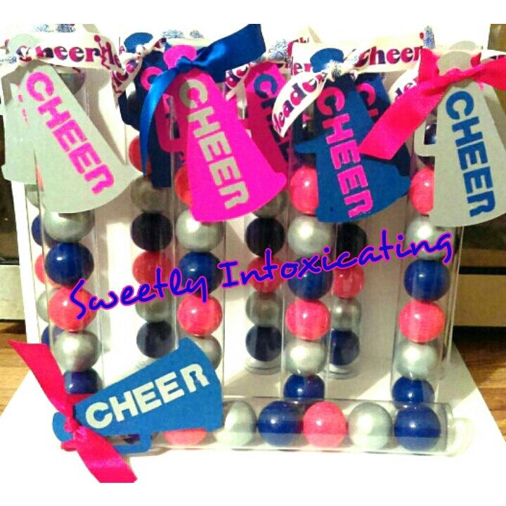 17CT CHEER gumball favors. CHEER , spirit sticks, pep rally, season kick off, banquets, favors and gifts. CHEER theme. by SweetlyIntoxicating on Etsy https://www.etsy.com/listing/472464484/17ct-cheer-gumball-favors-cheer-spirit