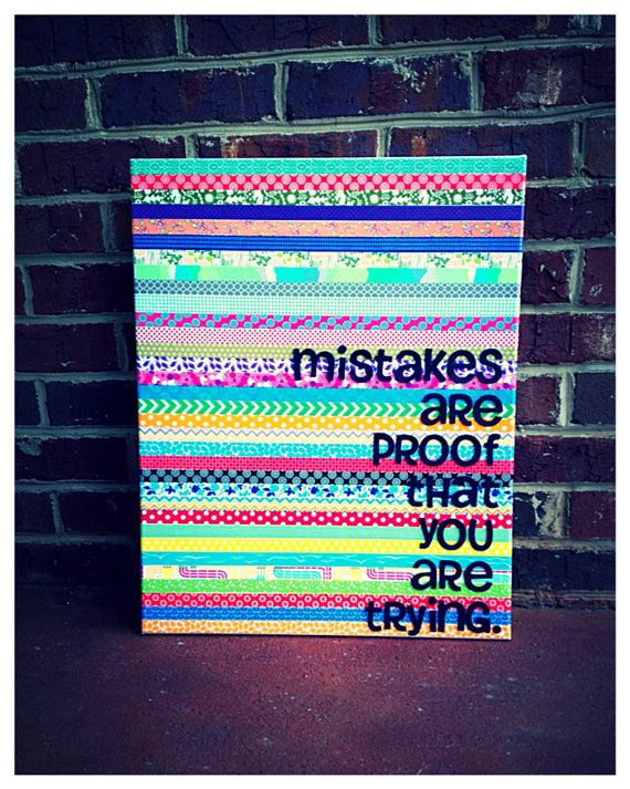 Canvas quote Mistakes are proof that you are by shopsignlanguage