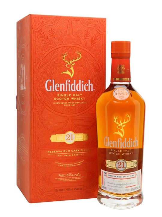 Glenfiddich 21 Year Old - Reserva Rum Cask Finish Scotch Whisky : The Whisky Exchange