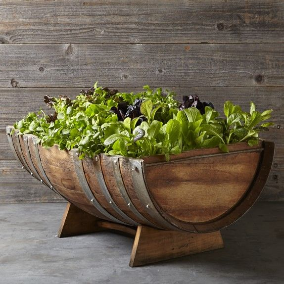 Reclaimed Wine Barrel Planter