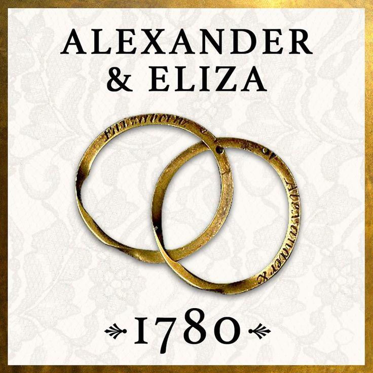 actual wedding rings of Alexander and Eliza Hamilton
