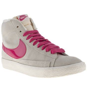 Nike Blazer Mid Grey Pink White Suede New Womens Trainers Shoes Boots:  Amazon.co