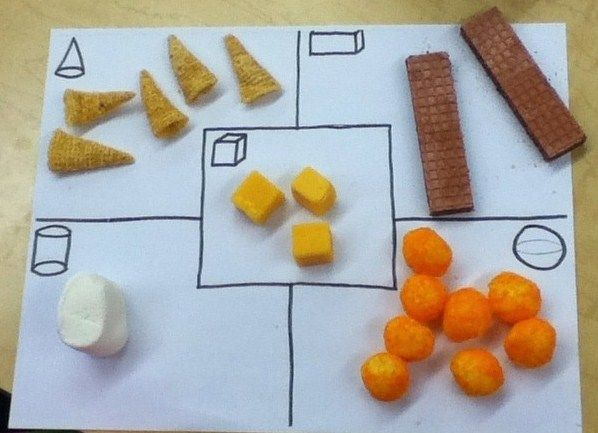 3D Shape Sort With Snack Foods!