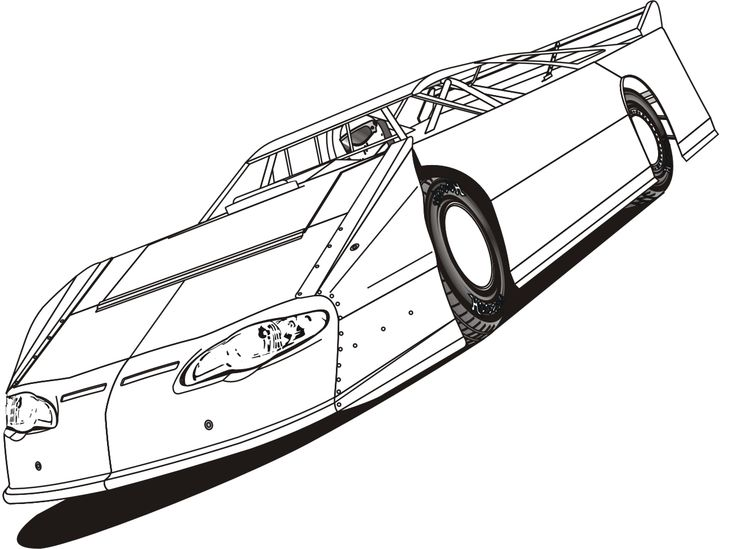 coloring pages race track - photo#31