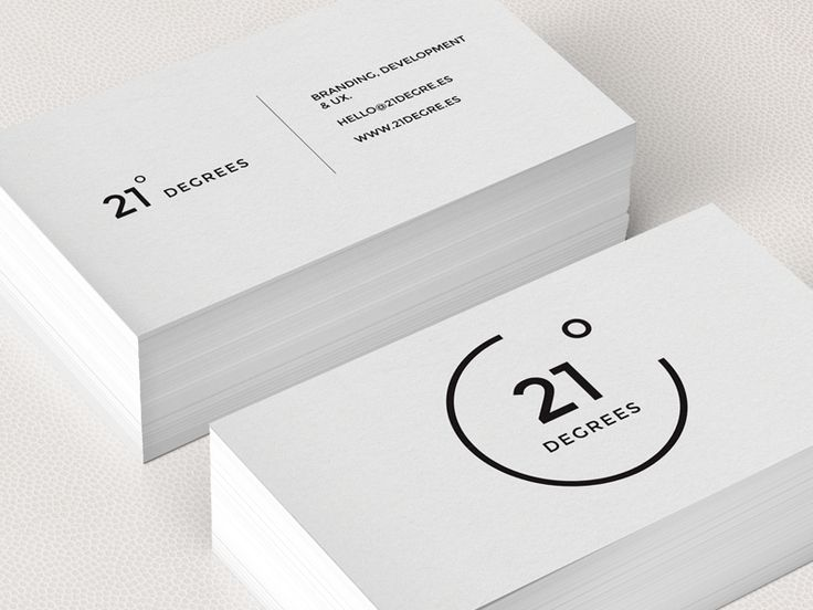 21 Degrees Business Cards