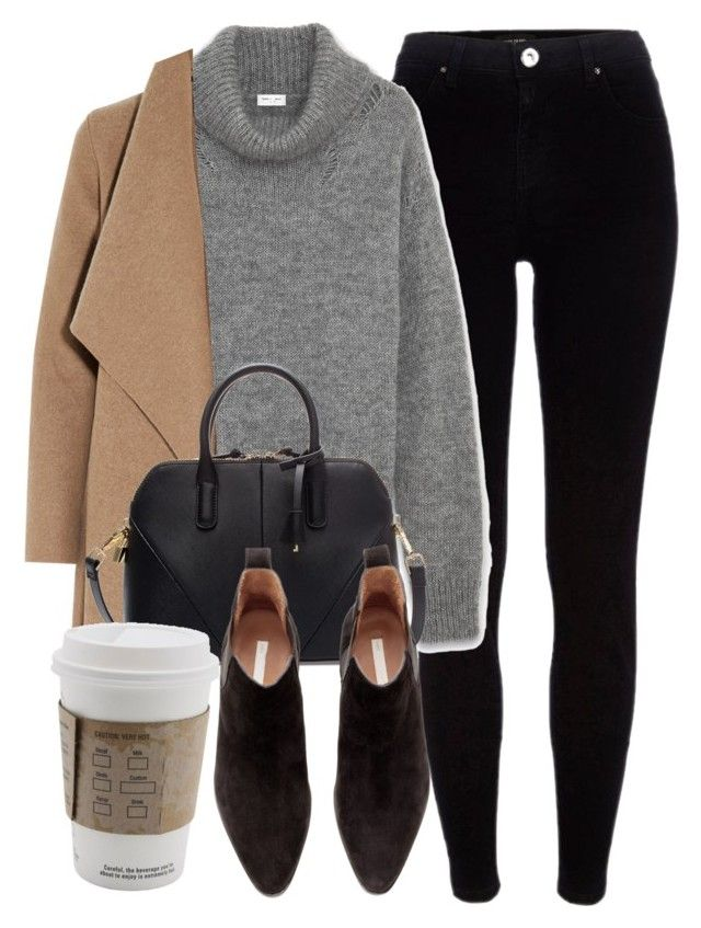 """Untitled #5458"" by laurenmboot ❤ liked on Polyvore featuring River Island, Yves Saint Laurent, Harris Wharf London, Zara and H&M"