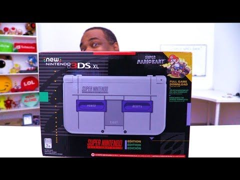 HOT NEW Nintendo 3DS XL SNES Edition UNBOXING! - YouTube
