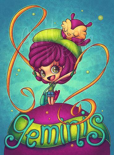 Geminis | Ilustración para el horóscopo de la revista TU www… | Flickr
