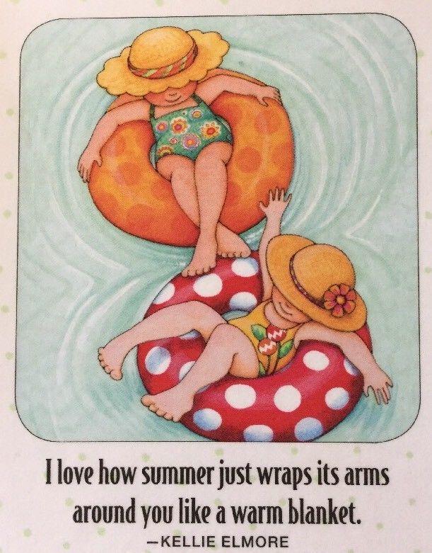 I Love How Summer-Handmade Fridge Magnet-Mary Engelbreit Artwork