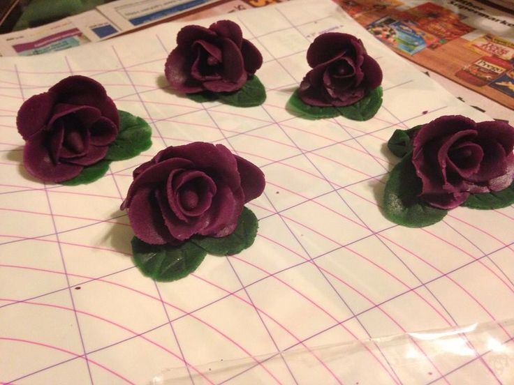 My marzipan roses