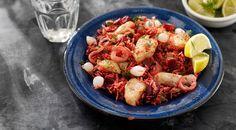 recept beeld: Deense bietenschotel met witvis en witte rijst