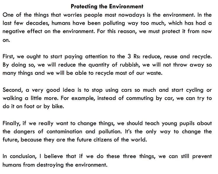 How To Write An Essay For Fce Sample Answer Como Escribir Un Para Ejemplo Respuesta Ensayo De Ensayos On Protecting Environment