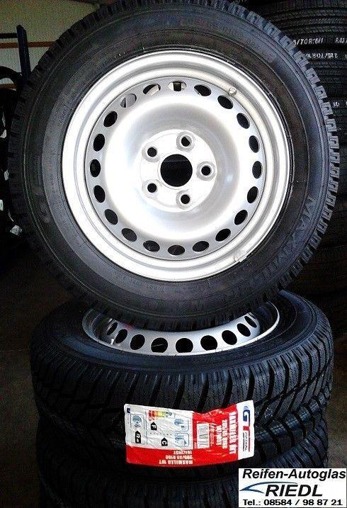 4x Winterräder VW T5 / VW T6 16 ZOLL Felgen 205/65 R16 C GT- RADIAL Reifen *NEU*
