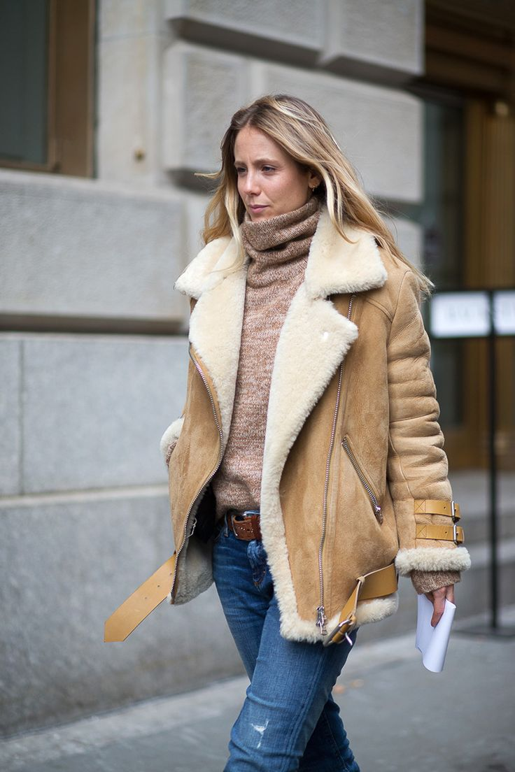 For the more low-key coat wearer who still like to keep it chic, the main idea is a neutral or black sheepskin to snuggle up in.