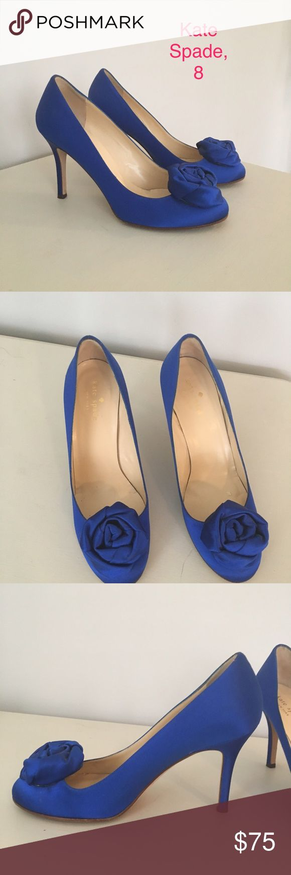 Kate Spade shoes Kate Spade blue satin shoes, size 8. Worn on my wedding day, that's it! kate spade Shoes Heels