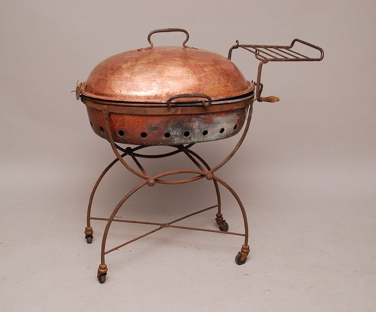 Lot: English copper barbecue, antique, Lot Number: 0172A, Starting Bid: $250, Auctioneer: Bill Hood & Sons Art & Antique Auctions, Auction: Art & Antique Auction, Boca Raton Estate, Date: April 23rd, 2013 GMT