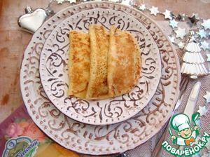 Закусочные блинчики с сыром и мясом