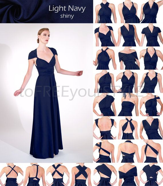 A convertible dress is still at the top of my list... Hey, I found this really awesome Etsy listing at https://www.etsy.com/listing/255774517/long-convertible-dress-in-light-navy