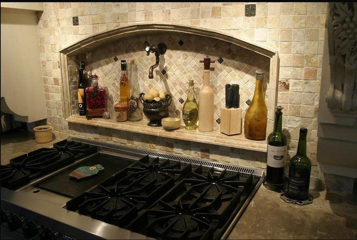 unique kitchen backsplash ideas | simple kitchen backsplash with stone and metal tiles