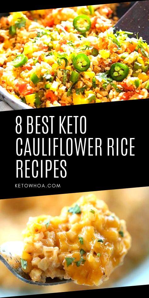Die 8 besten kohlenhydratarmen Keto-Blumenkohl-Reis-Rezepte, die Haushaltsfavoriten sein werden …   – Best of Keto Whoa