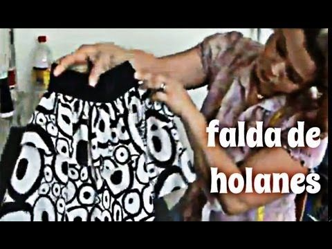 Como Hacer Una Falda De Holanes Para Niña Facilmente Adorable ruffle skirt for girl.  Going to make one now!!!