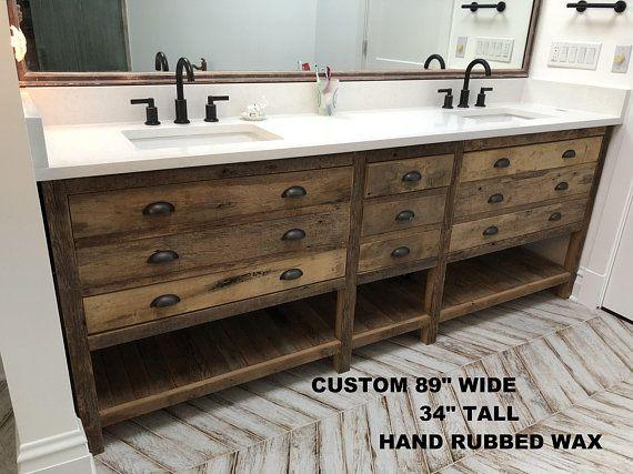 19+ Custom rustic bathroom vanities model