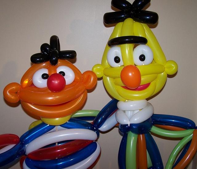 Bert & Ernie by Black Cat Balloon Company, via Flickr