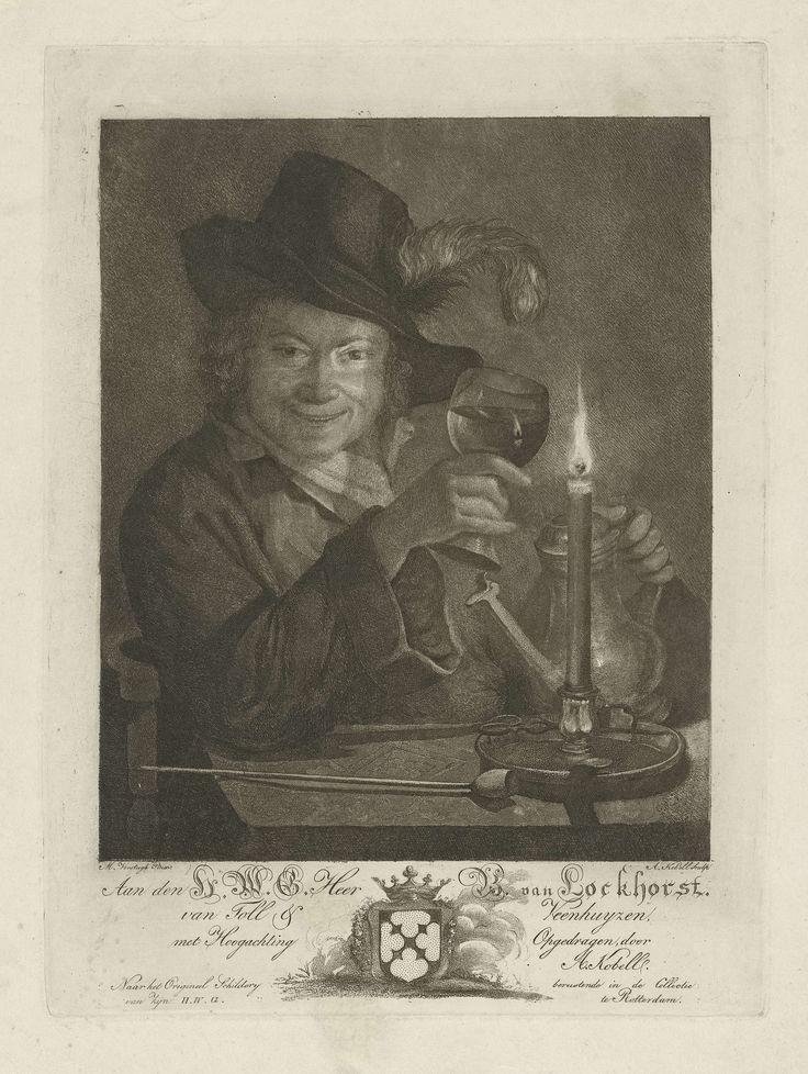 Jongen bij kaarslicht, Anna Kobell, 1805 - 1847
