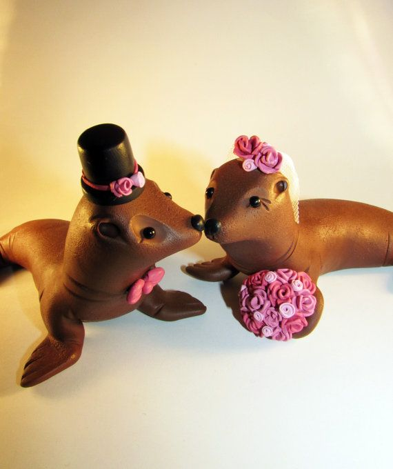 cake toppers custom cakes wedding cake toppers cake dress sea lions ...