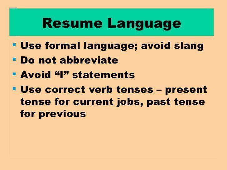 Present Tense Resume Example Unique Resume Current Position Tense In 2020 Resume Examples Resume Unique Resume