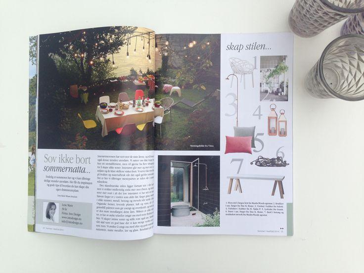 Magasin, interiør sider, sommer, grafisk design. Magazin, interior pages, summer, graphic design