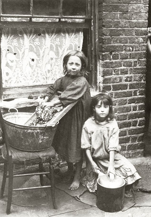 London East End:   The pictures, taken by photographer Horace Warner 100 years ago in Spitalfields in London's East End, were later used by social campaigners to illustrate the plight of the poorest children in London.