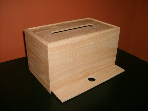 Unfinished Wood Tissue Box CoverKleenex door designcraftindustrie