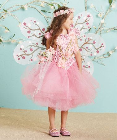 Another great find on #zulily! Cherry Blossom Fairy Dress - Girls by chasing fireflies #zulilyfinds