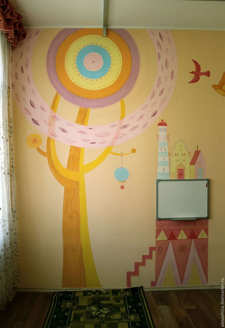 173 best kid room wall murals images on pinterest kids rooms a fun stylish custom mural in a childs room kidroommural amipublicfo Images