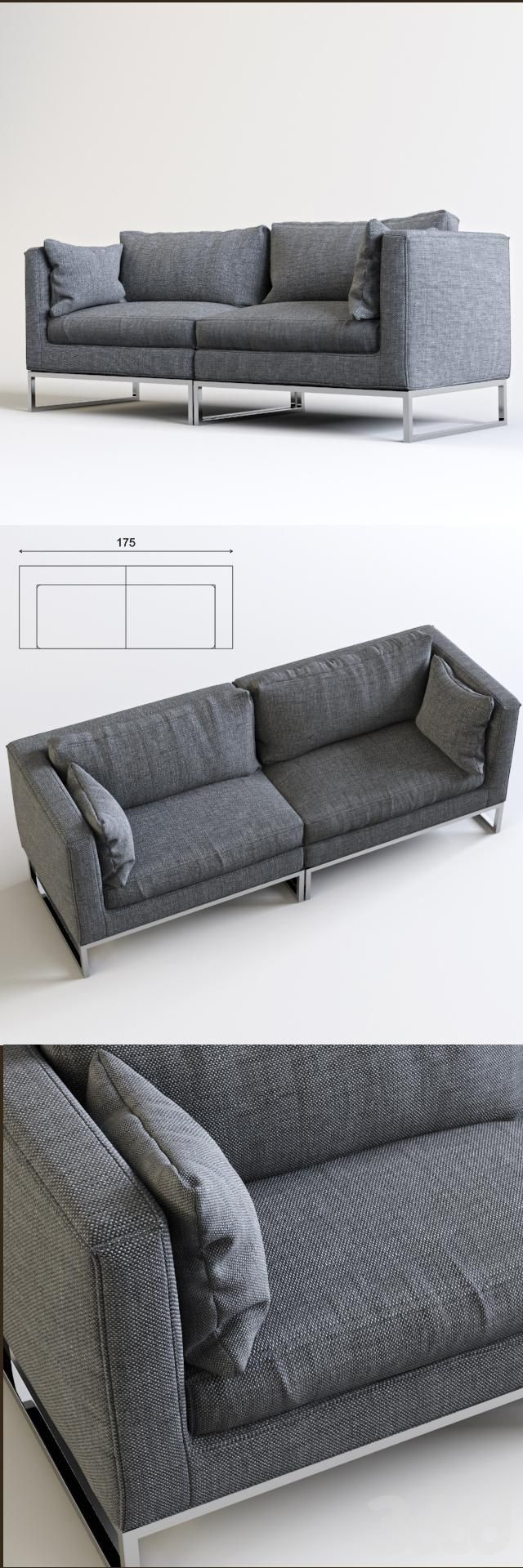 14 best furniture: sofa images on pinterest | sofa, 3ds max and sofas - Das Modulare Ledersofa Heart Formenti