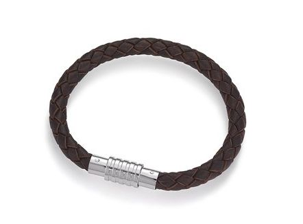 Braided leather bracelet, can be used only like this or it can be a more personalized bracelet with adding a favorite lock