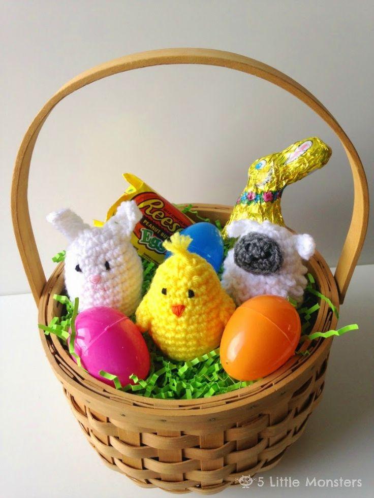 5 Little Monsters: Crocheted Easter Egg Covers